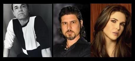 René Ariza, Larry Villanueva y Alexa Kuve