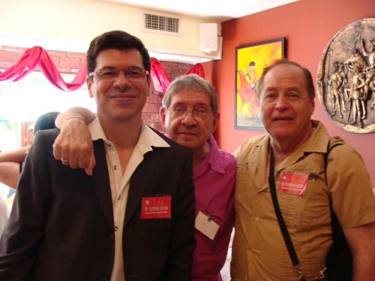 ddy Díaz Souza, Pepe Triana y Pedro R. Monge Rafuls. Nueva York, junio 2009