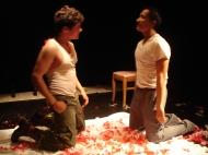 Arturo Castro (El soldado) y Pablo Galarza (Pepe)