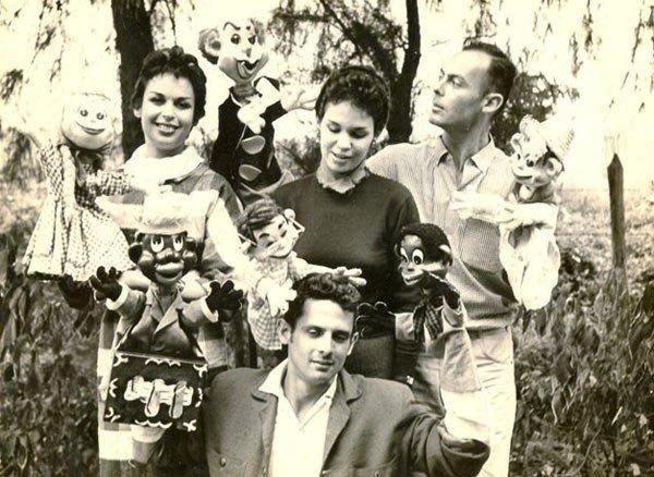 Carucha, Bertica, Pepe Camejo y Pepe Carril (debajo), años 50. Foto cortesía de Galería El Retablo.