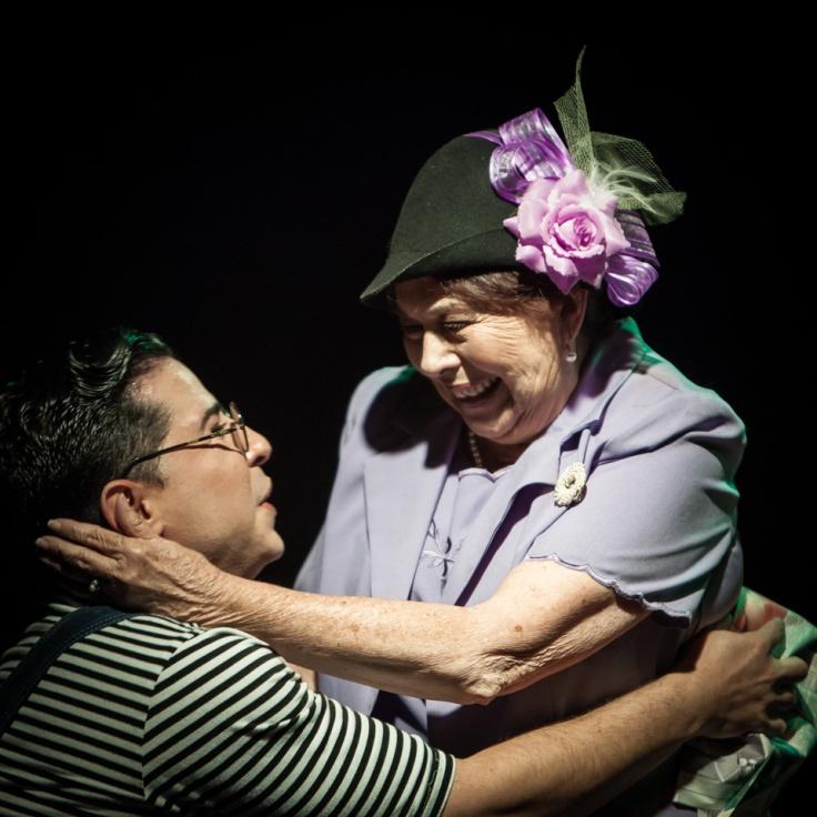 """Leandro Peraza y Daisy Fontao en """"El príncipe y el mar"""". Foto: Julio de la Nuez."""
