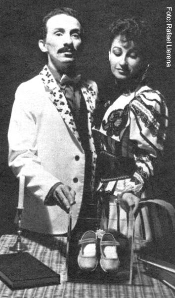 Manolito Martínez y Myrna Colón en Los zapaticos de rosa.